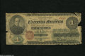 Fr. 16 $1 1862 Legal Tender Good-Very Good. The edges of this Ace show wear that includes two small missing pieces