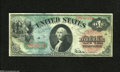 Fr. 18 $1 1869 Legal Tender Fine. Nice color, margins, and edges for the grade are found on this $1 Rainbow
