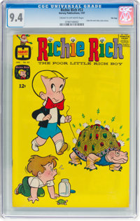 Richie Rich #53 File Copy (Harvey, 1967) CGC NM 9.4 Cream to off-white pages