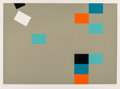 Prints & Multiples:Contemporary, Kyohei Inukai (1913-1985). Nine Units on Mint, 1978. Screenprint in colors on Arches 88 paper. 22-1/2 x 30-1/8 inches (5...