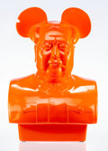 Miscellaneous, Frank Kozik (American, 1962). The Bird is the Word (OrangeEdition), 2017. Fiberglass bust. 28 x 18 x 9 inches (71.1 x4...