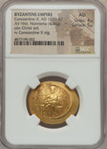 Ancients:Byzantine, Ancients: Constantine X Ducas (AD 1059-1067). AV histamenon nomisma(28mm, 4.36 gm, 5h). NGC AU 4/5 - 5/5....