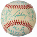 Autographs:Baseballs, 1988 American League All-Star Team Signed Baseball - Only Missing 2Players (31 Signatures)....