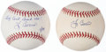 Autographs:Baseballs, Yogi Berra Single Signed Baseball Lot of 2.... (Total: 2 items)