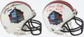 Football Collectibles:Helmets, Jim Brown & Leroy Kelly Signed Mini Helmet Lot of 2....
