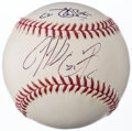 Autographs:Baseballs, 2009-10 Houston Astros Multi-Signed Baseball (3 Signatures...