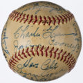 Autographs:Baseballs, 1952 Boston Braves Team Signed Baseball - Last Season in Boston (26Signatures)....