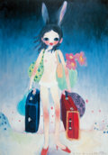 Prints & Multiples:Print, Aya Takano (b. 1976). Mail Mania Mami, Standing in a Storm, 2001. Offset lithograph in colors on smooth wove paper. 24-1...