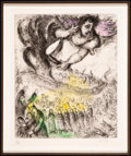 Prints & Multiples, Marc Chagall (1887-1985). Prise de Jérusalem, from La Bible, 1958. Etching with handcoloring on Arches paper. 12-1/8...