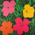 Prints & Multiples, After Andy Warhol . Flowers, Mailer, 1964. Offset lithograph in colors on paper. 21-7/8 x 21-7/8 inches (55.6 x 55.6 cm)...