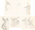 Animation Art:Production Drawing, Mother Goose Goes to Hollywood Cab Calloway, Laurel &Hardy and Jazz Musicians Animation Drawing Group of 4 (Walt Disn...(Total: 4 Original Art)