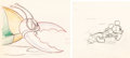Animation Art:Production Drawing, Mickey's Garden Mickey Mouse and Bug...