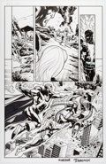 Original Comic Art:Panel Pages, Tom Derenick, Eddy Barrows, Eber Ferreira, and Others ...