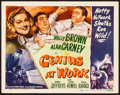 Movie Posters:Comedy, Genius at Work (RKO, 1946). Very Fine-. Title Lobb...