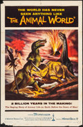 "Movie Posters:Documentary, The Animal World (Warner Brothers, 1956). Folded, Fine+. One Sheet (27"" X 41"") Gustav Rehberger Artwork. Documentary.. ..."