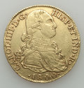 Colombia, Colombia: Charles IV gold 8 Escudos 1800 NR-JJ XF (SurfaceHairlines),...