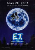 """Movie Posters:Science Fiction, E.T. The Extra-Terrestrial (Universal, R-2001). Rolled, Fine/VeryFine. 20th Anniversary Bus Shelter (48"""" X 69"""") SS Advance...."""