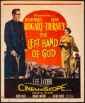"Movie Posters:Drama, The Left Hand of God (20th Century Fox, 1955). Folded, Fine+.Trimmed Window Card (14"" X 17""). Drama.. ..."