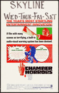 Movie Posters:Horror, Chamber of Horrors & Others Lot (Warner Brothers, 1966). F...
