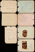 Autographs:Letters, c. 1920s Sports Greats & Celebrities Signed Album Page Lot withGrange, Frisch, Hafey, & Others....