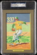 Autographs:Post Cards, 1993 Rollie Fingers Signed Perez-Steele Great Moments #74, PSA/DNA MT 9. ...