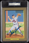 Autographs:Post Cards, 1993 Tom Seaver Signed Perez-Steele Great Moments #73, PSA/DNA MT 9. ...