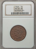 1848 1C MS64 Brown NGC. NGC Census: (48/29). PCGS Population: (66/22). CDN: $700 Whsle. Bid for problem-free NGC/PCGS MS...