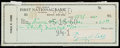 Autographs:Checks, 1960 Ty Cobb Signed Personal Check....
