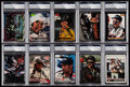 Non-Sport Cards:Lots, 1990s Dale Earnhardt Signed Card Collection (10) - PSA/DNA Encapsulated. ...