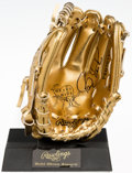 Autographs:Others, Barry Larkin Signed Mini Gold Glove. ...