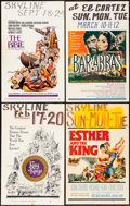 "Movie Posters:Historical Drama, King of Kings & Others Lot (MGM, 1961). Fine/Very Fine. WindowCards (4) (14"" X 22""). Historical Drama.. ... (Total: 4 Items)"