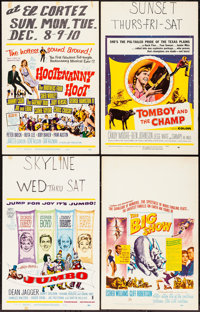 """Billy Rose's Jumbo & Other Lot (MGM, 1962). Folded, Fine/Very Fine. Window Cards (12) (14"""" X 22""""). Mus..."""