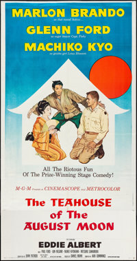 """The Teahouse of the August Moon (MGM, 1956). Three Sheet (41"""" X 78""""). Comedy"""