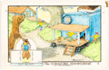 Original Comic Art:Miscellaneous, William Donahey The Teenie Weenies Sunday Comic-Strip Hand-PaintedColor Production Art dated 10-19-70 (News Syndicate Co., 1...