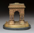 Decorative Arts, French:Other, A Grand Tour-Style Bronze and Slate Model of the Arc de Tr...