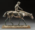 Silver & Vertu, A Silver-Plated Statue of Mounted Equestrian, 20th century. 17-1/4 x 20-1/2 x 5-5/8 inches (43.8 x 52.1 x 14.3 cm). ...