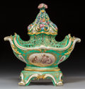 Ceramics & Porcelain:Antique  (Pre 1900), A Sèvres-Style Porcelain Floral Potpourri Vase, late 19th century. 15-1/4 x 14-3/4 x 8 inches (38.7 x 37.5 x 20.3 cm). PRO... (Total: 3 Items)