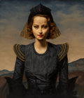 Paintings, Gerald L. Brockhurst (British, 1890-1978). Merle Oberon, 1937. Oil on canvas. 33-3/4 x 29 inches (85.7 x 73.7 cm). Signe...