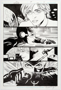 Paul Gulacy and Jimmy Palmiotti Catwoman #35 Story Page 7 Original Art (DC, 2004)