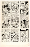 Original Comic Art:Panel Pages, Jerry Robinson Crime Exposed...