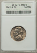 1949-S 5C MS64 Full Steps ANACS. NGC Census: (0/1). PCGS Population: (27/125). ...(PCGS# 84040)