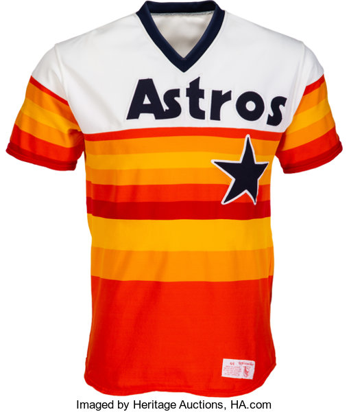 free shipping 9054d ef50b 1983-85 Nolan Ryan Game Worn Houston Astros Jersey ...