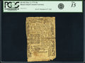 Colonial Notes:Rhode Island, Rhode Island May 3, 1775 10s PCGS Fine 15.. ...