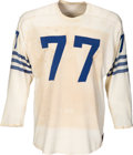Football Collectibles:Uniforms, 1957 Jim Parker Game Worn Baltimore Colts Jersey (Preseason), MEARS A10....