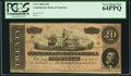 Confederate Notes:1864 Issues, T67 $20 1864. PCGS Very Choice New 64PPQ.. ...