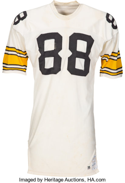 sports shoes 11005 6fe8c 1975 Lynn Swann Game Worn Pittsburgh Steelers Jersey, MEARS ...