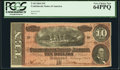 Confederate Notes:1864 Issues, T68 $10 1864. PCGS Very Choice New 64PPQ.. ...
