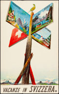 """Movie Posters:Miscellaneous, Switzerland (Swiss National Tourist Office, 1938). Rolled, Fine+. Italian Language Swiss Travel Poster (30"""" X 40"""") Alois Car..."""