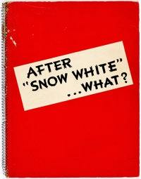 """Walt Disney Studio's After """"Snow White"""" ...What?"""" Coming Attractions Press Release Spiral Booklet (Walt D..."""