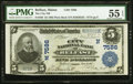 National Bank Notes:Maine, Belfast, ME - $5 1902 Plain Back Fr. 598 The City NB Ch. # (N)7586PMG About Uncirculated 55 EPQ.. ...